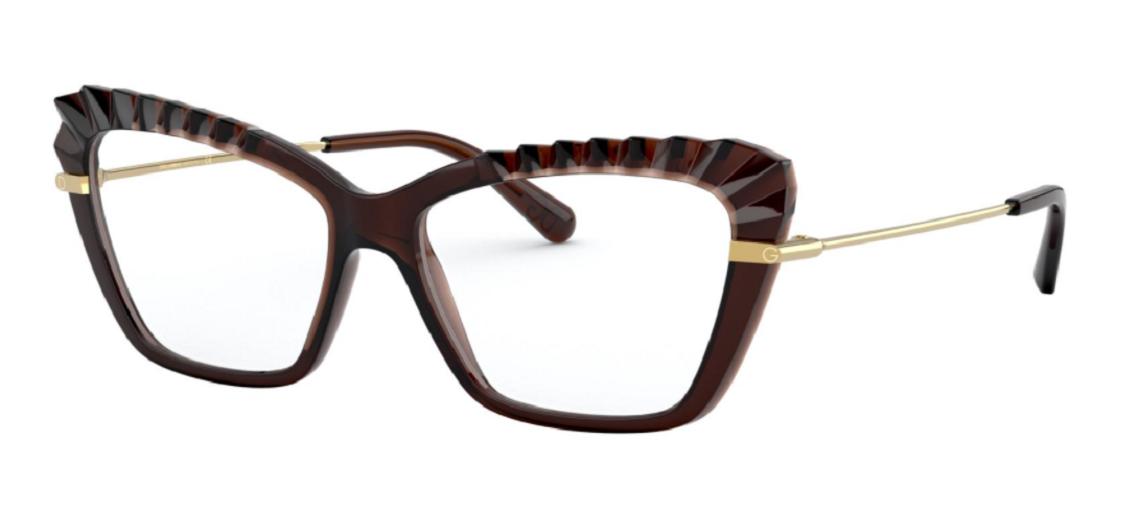 Óculos de Grau Dolce & Gabbana Marrom/Dourado DG5050 - 3159/54