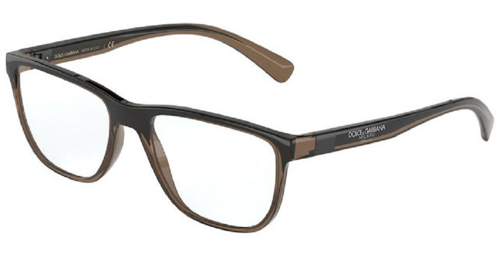 Óculos de Grau Dolce & Gabbana Marrom/Preto DG5053 - 3259/56