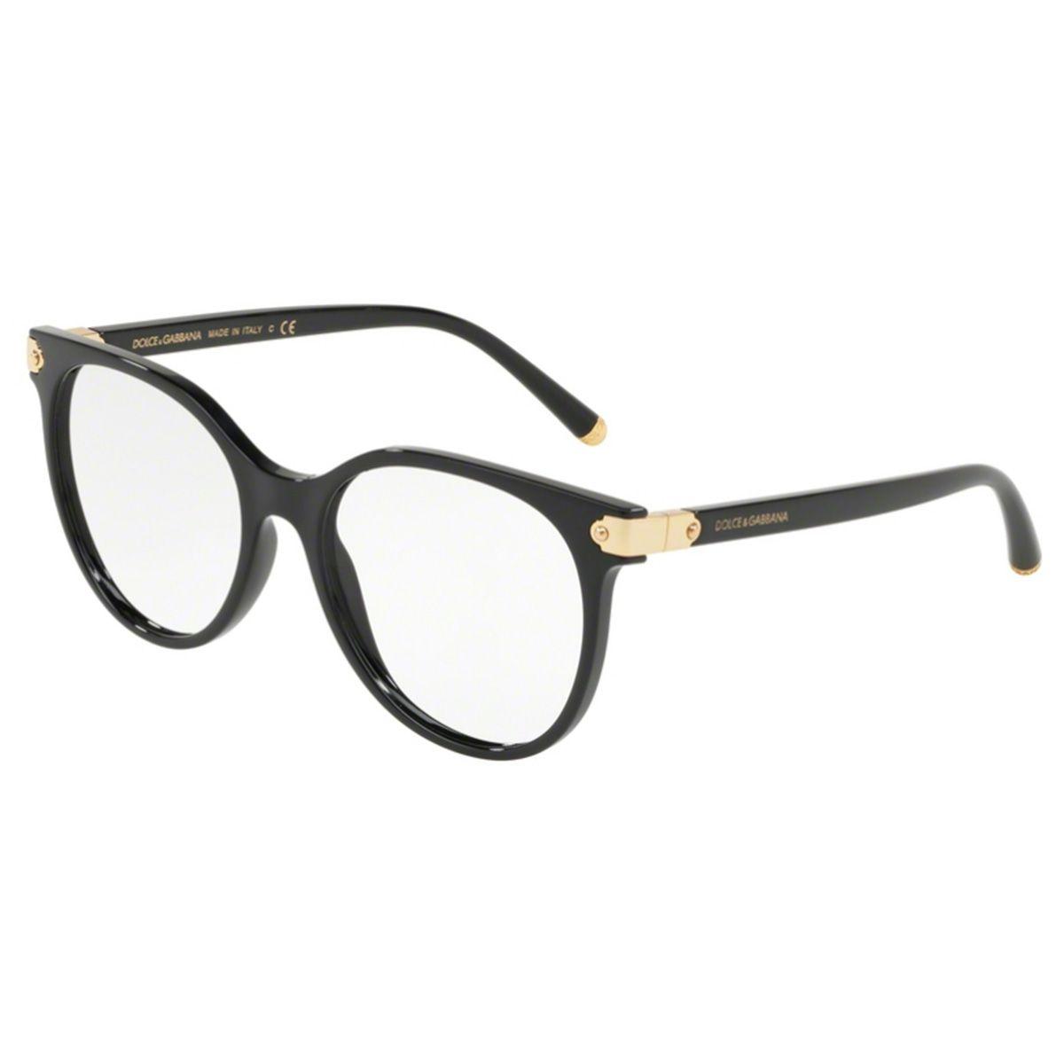Óculos de Grau Dolce & Gabbana Preto DG5032 - 501/53