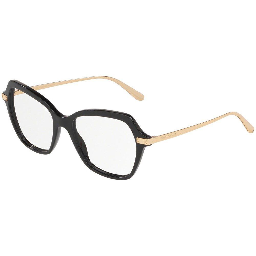 Óculos de Grau Dolce & Gabbana Preto/Dourado DG3311 - 501/51
