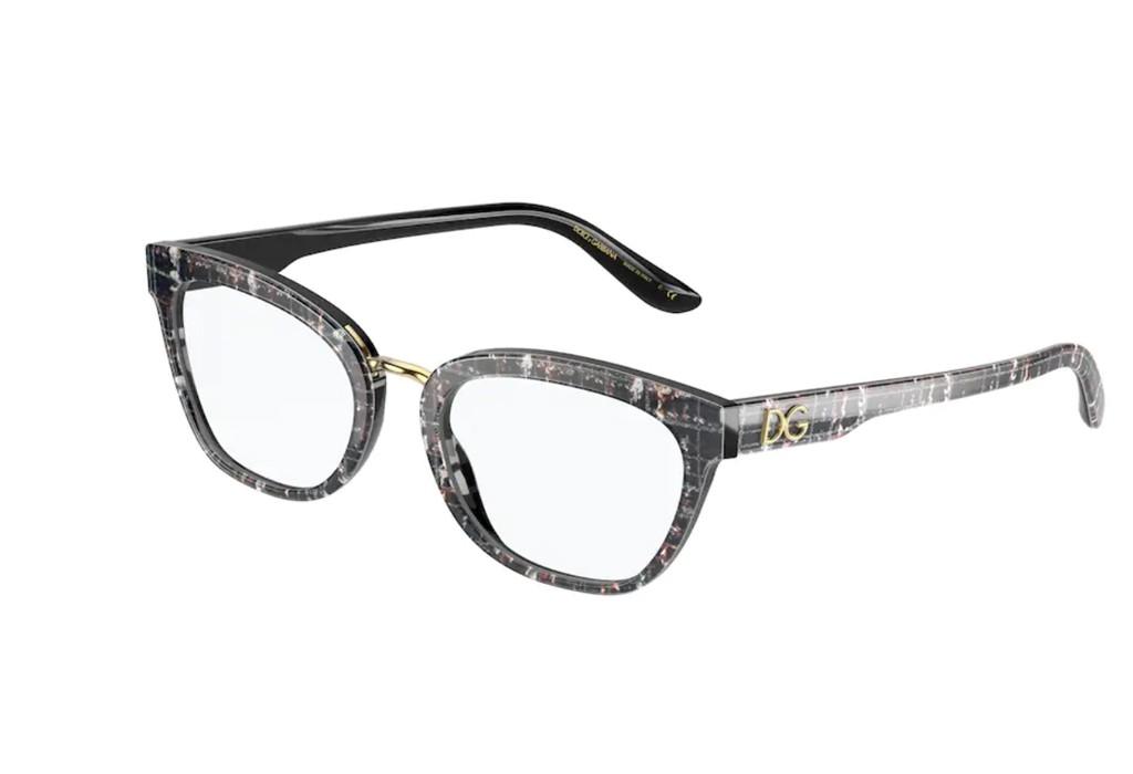 Óculos de Grau Dolce & Gabbana Preto/Dourado DG3335 - 3286/54