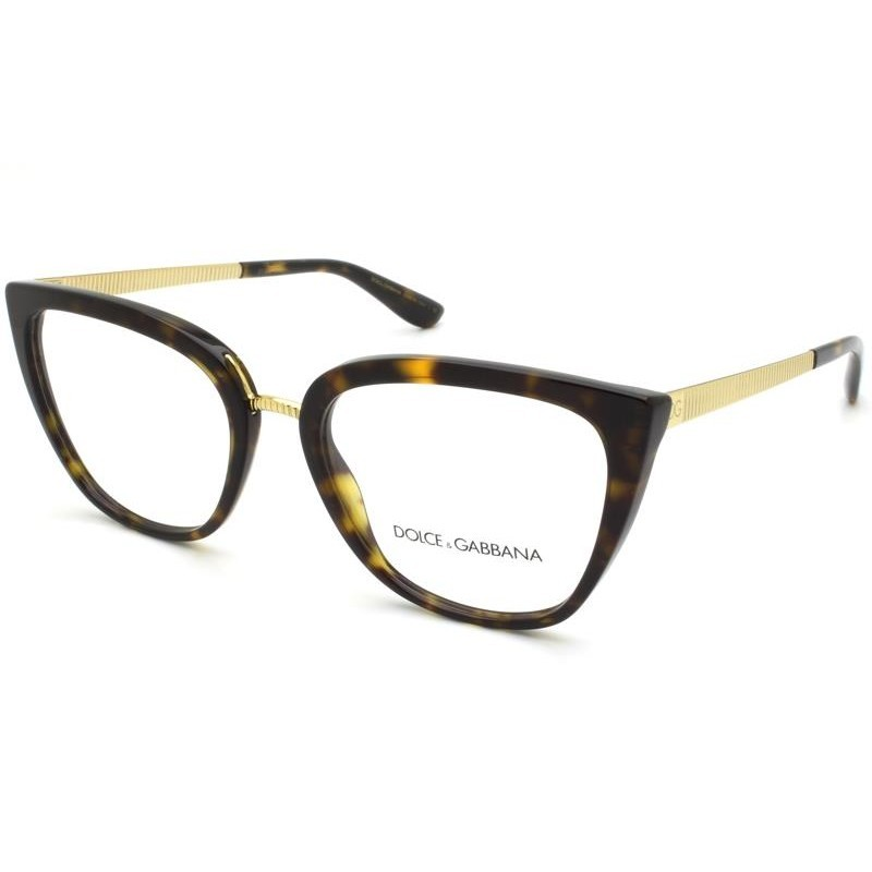 Óculos de Grau Dolce & Gabbana Tartaruga DG3314 - 502/55