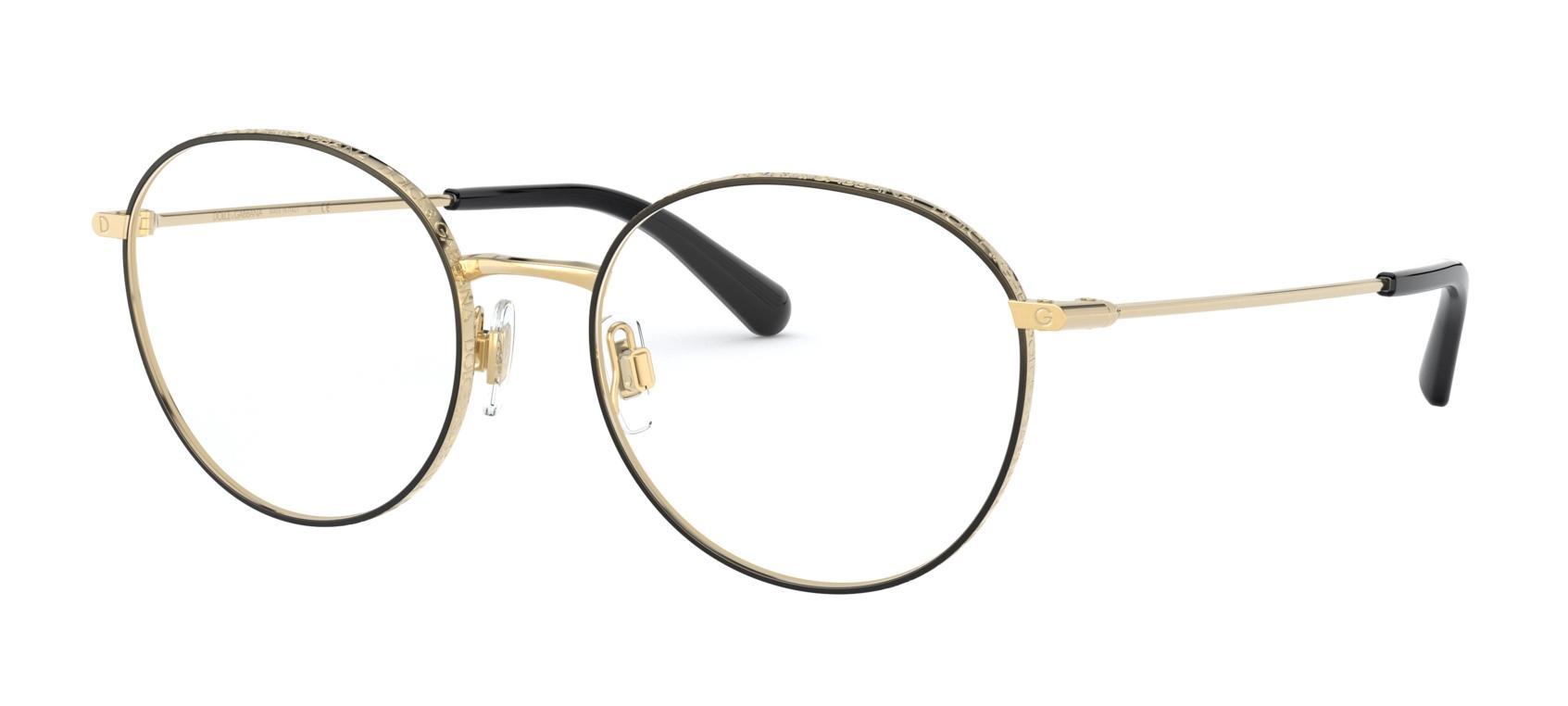 Óculos De Grau Dolce & Gabbana Dourado/Preto DG1322 1334