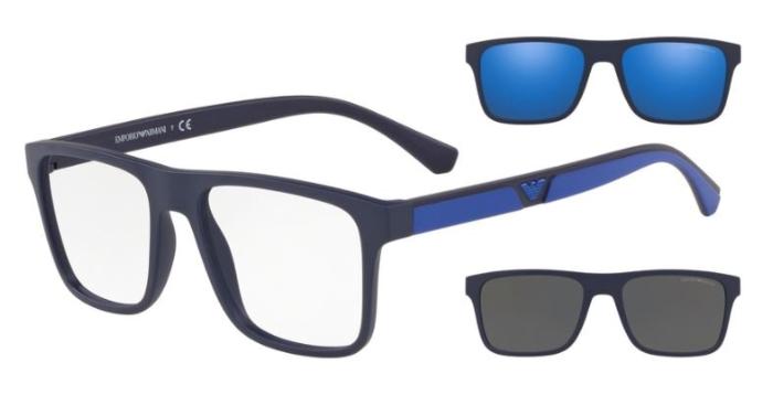 Óculos De Grau Emporio Armani Clip On Azul L/54 EA4115 57591W