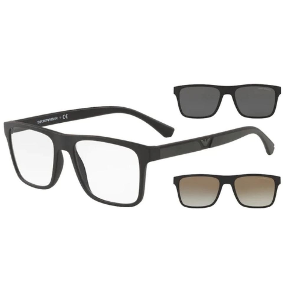 Óculos De Grau Empório Armani Clip On EA 4115 58531W/54