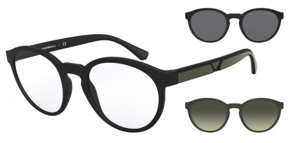 Óculos De Grau Empório Armani Clip on EA4152 5042 1W/52