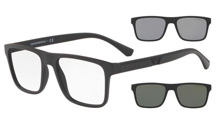 Óculos De Grau Empório Armani Clip On EA4115 58011W/54