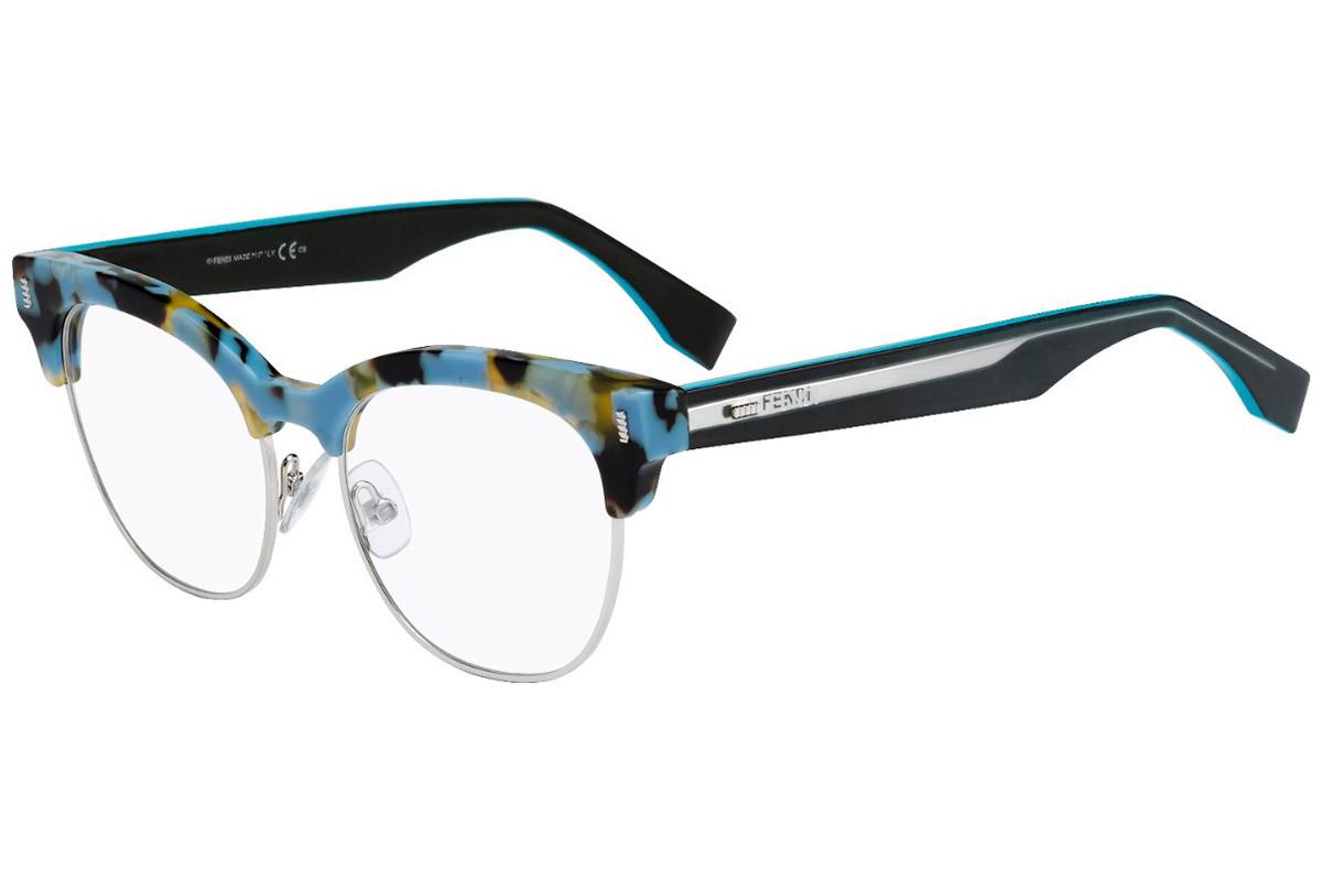 Óculos de Grau Fendi Havana/Azul FF0163 - UJA/51