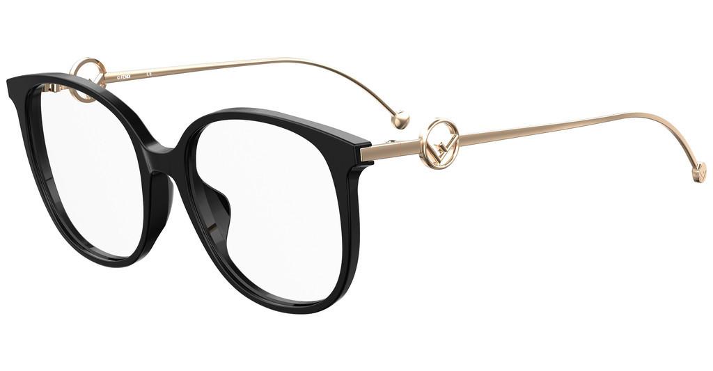 Óculos de Grau Fendi Preto/Dourado FF0425/F - 807/54