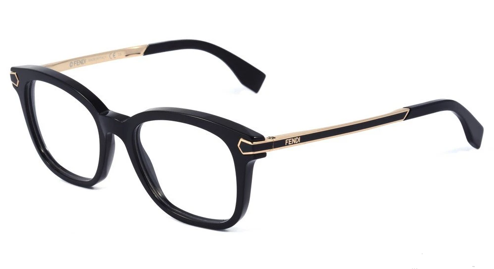 Óculos de Grau Fendi Preto FF0023 - 7US/50
