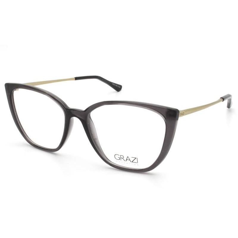 Óculos de Grau Grazi Cinza/Dourado GZ3077 - H612/53