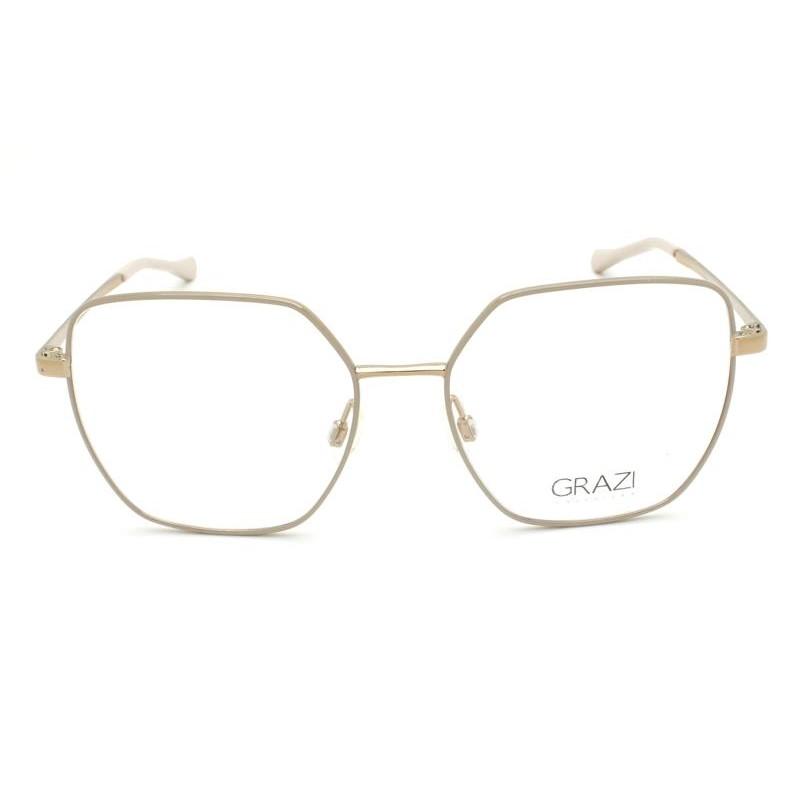 Óculos de Grau Grazi Nude/Dourado GZ1014 - G917/53