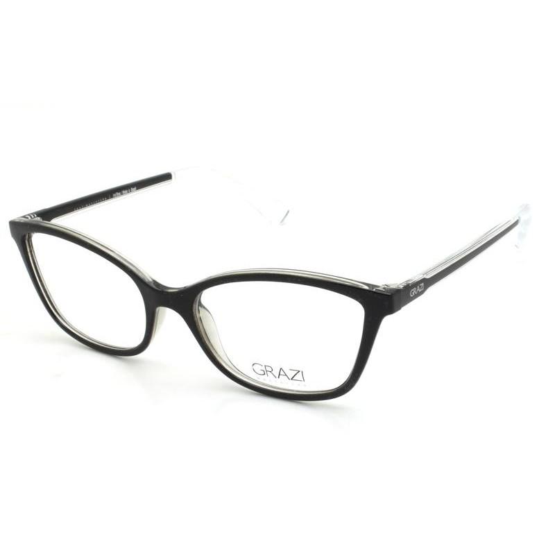 Óculos de Grau Grazi Preto/Transparente GZ3063 - G679/52