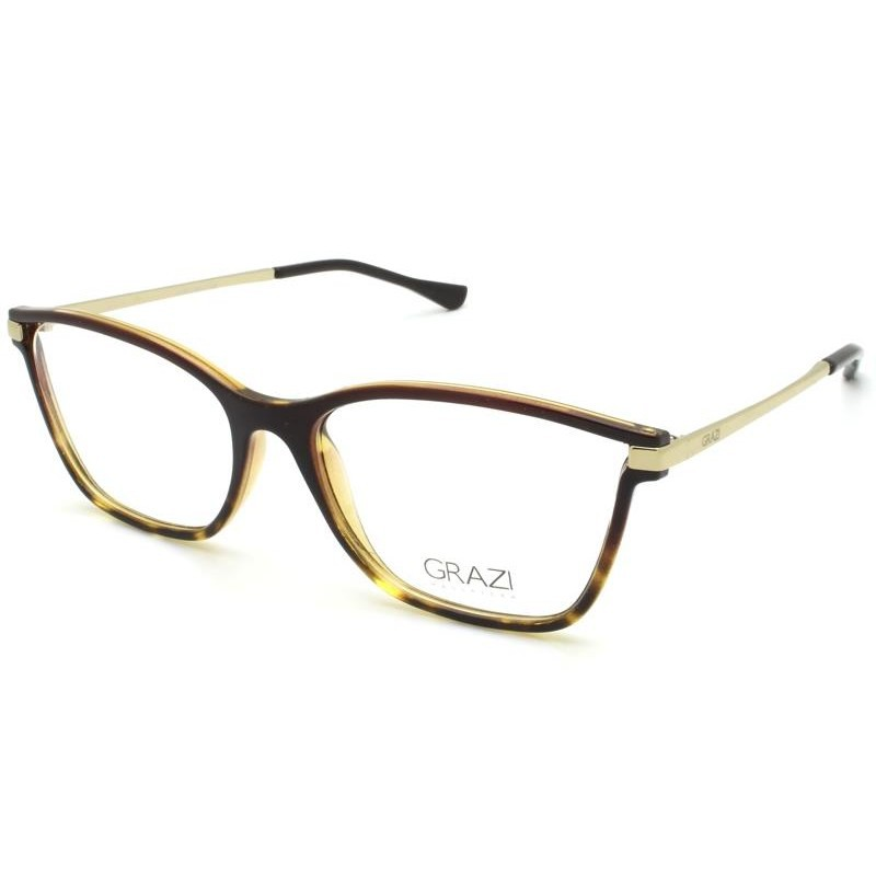 Óculos de Grau Grazi Tartaruga/Dourado GZ3068 - G899/53