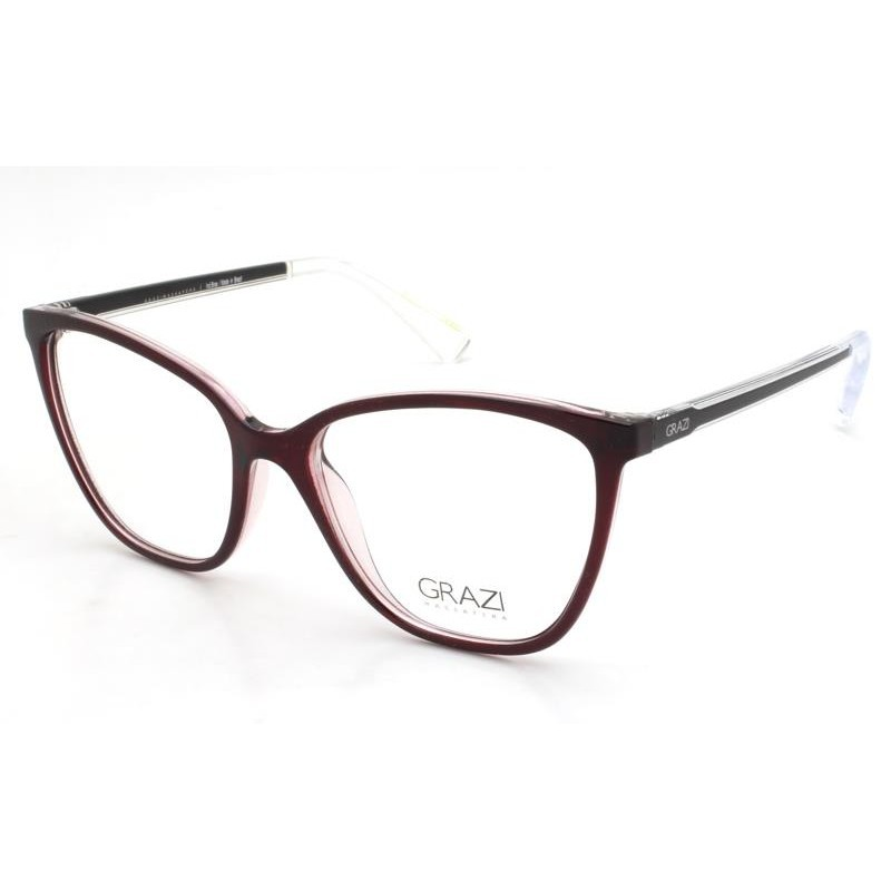 Óculos de Grau Grazi Vinho/Preto GZ3064 - G685/53
