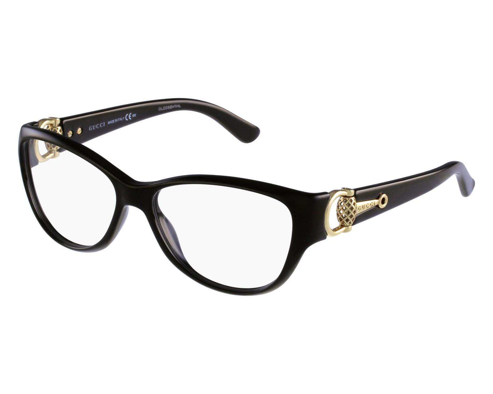 Óculos de Grau Gucci Preto/Dourado GG3741 - D28/54