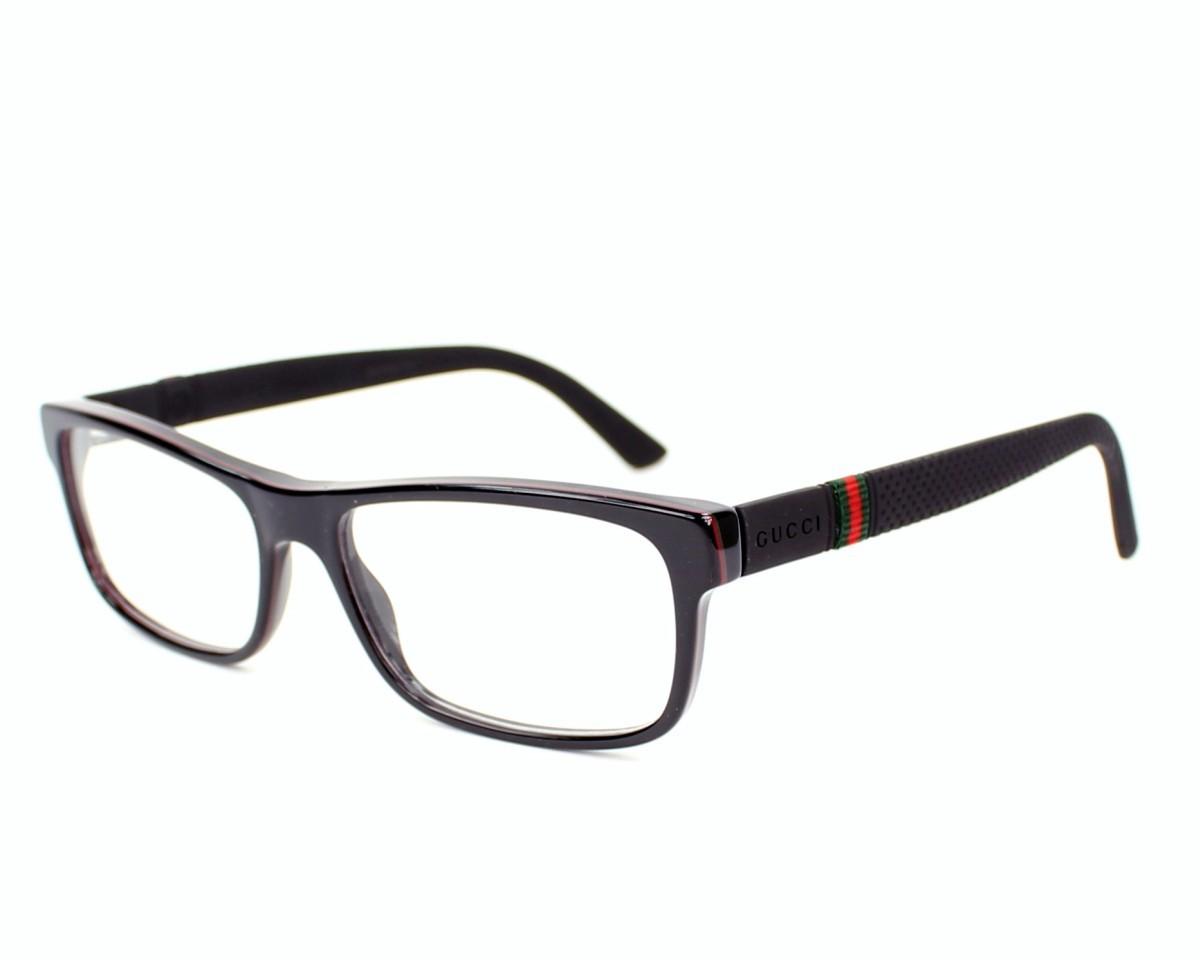 Óculos de Grau Gucci Preto GG1066 - 4UP/54