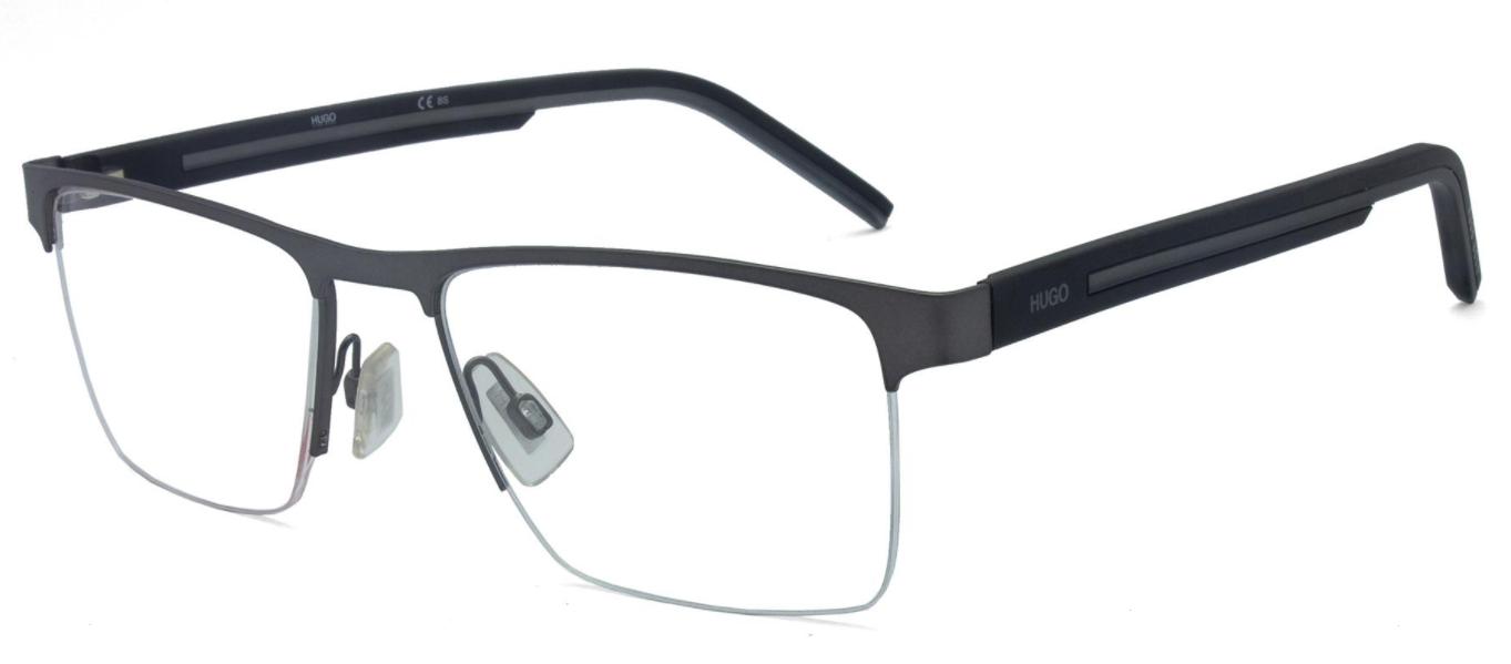 Óculos de Grau Hugo Boss Chumbo/Preto HG1066 - R80/55