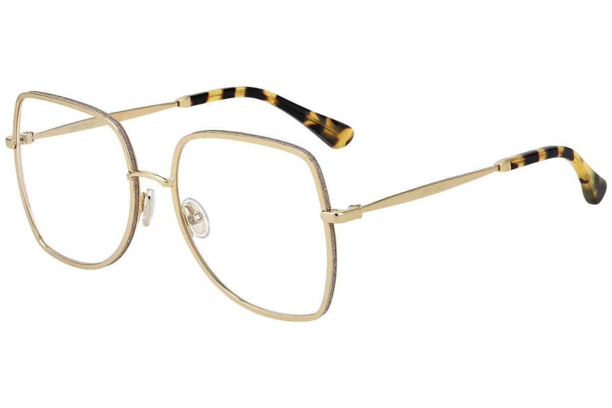 Óculos de Grau Jimmy Choo Dourado JC228 - J5G/56