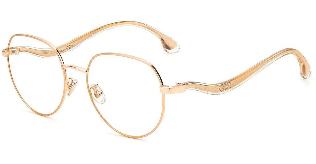 Óculos de Grau Jimmy Choo Dourado JC260/G - DDB/54