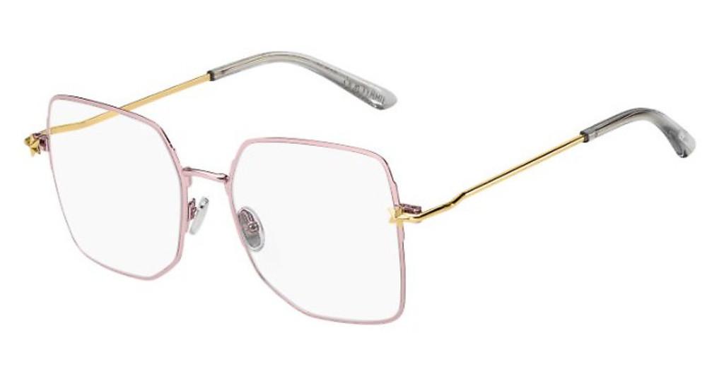 Óculos de Grau Jimmy Choo Dourado JC262 - 35J/56