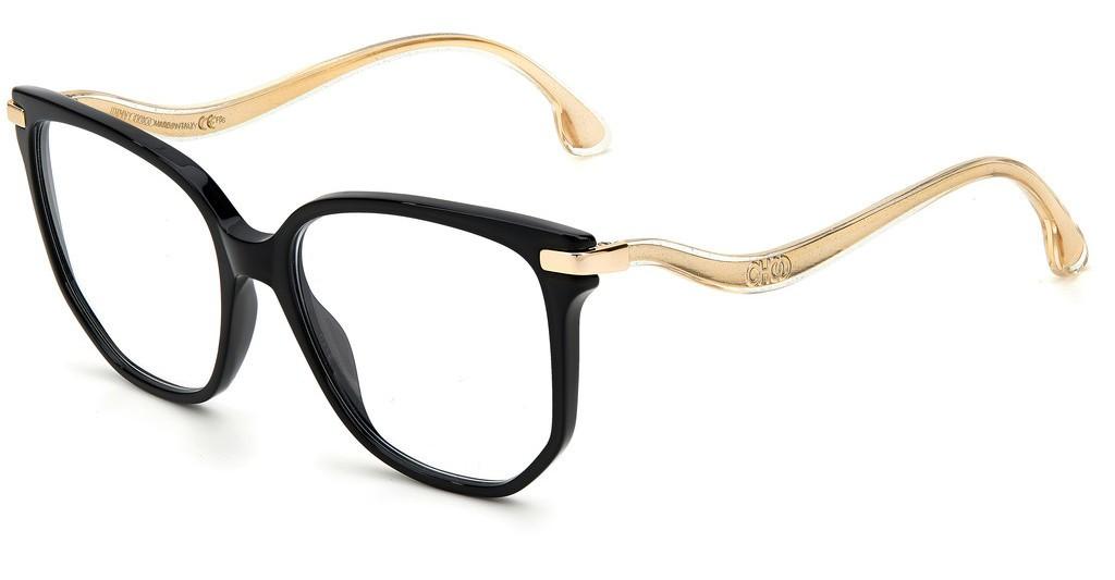 Óculos de Grau Jimmy Choo Preto JC257 - 807/55