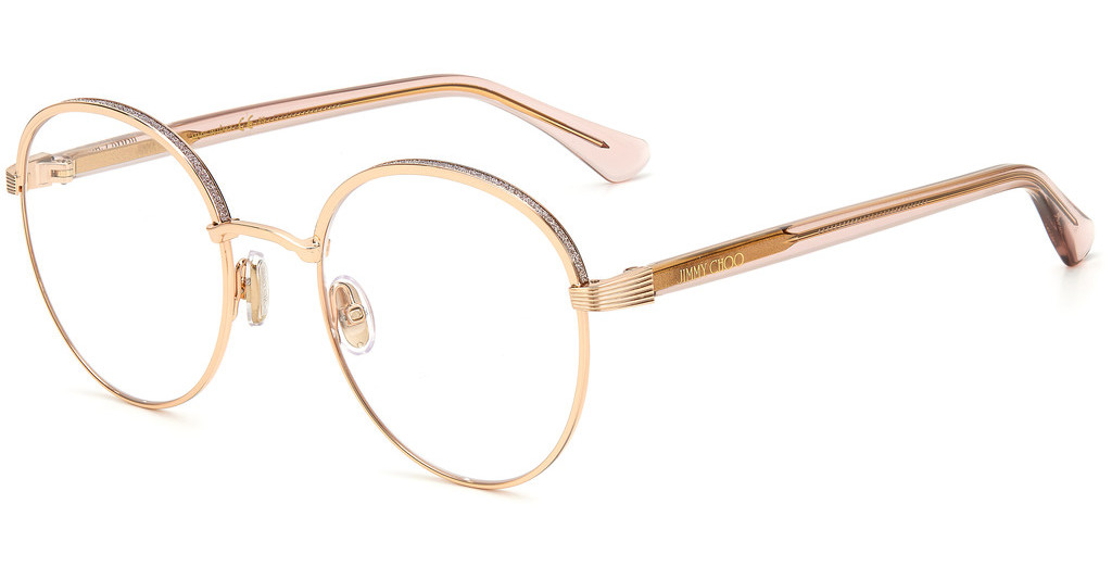 Óculos de Grau Jimmy Choo Rosé Gold JC267/G - DDB/52
