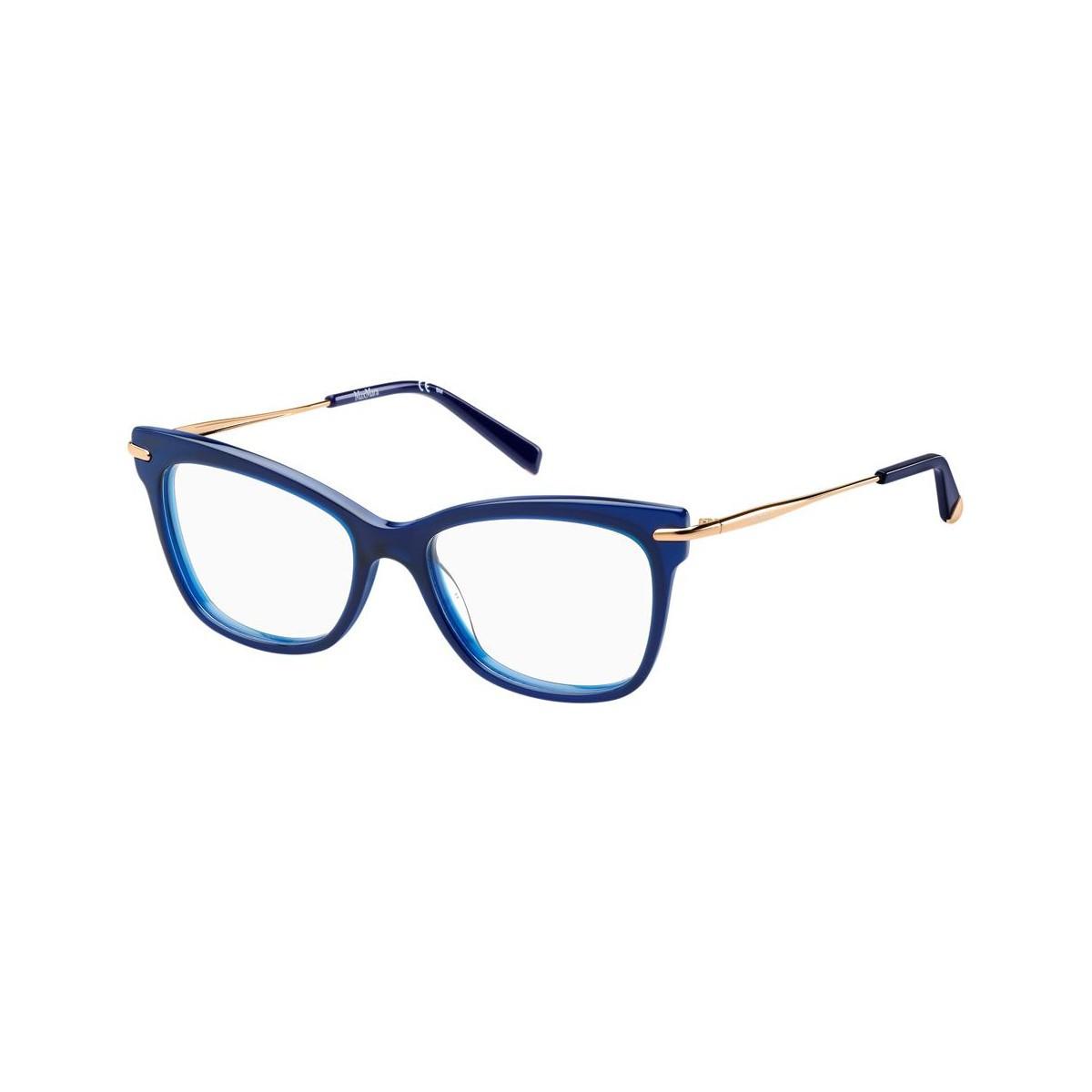 Óculos de Grau Max Mara Azul/Dourado MM1309 - PJP/51