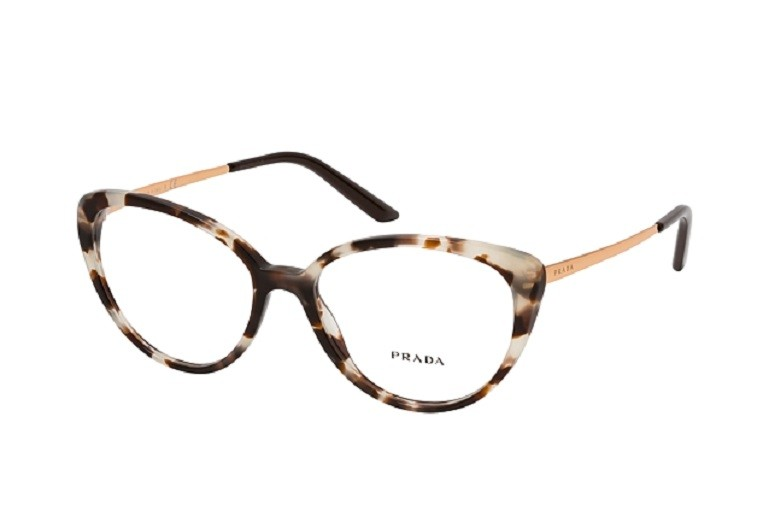 Óculos de Grau Prada Havana Marrom PR 06WV - UA0/1O1/53