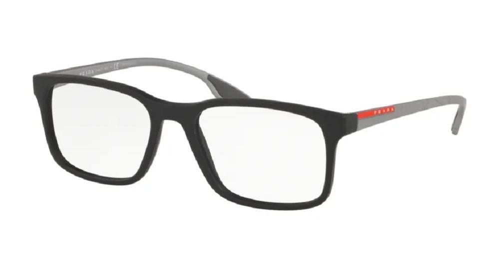 Óculos de Grau Prada Linea Rossa Cinza Translucido VPS 05M - 01D/1O1/55