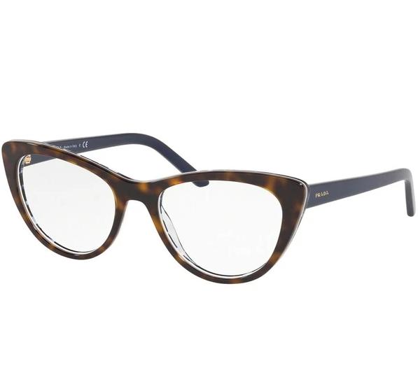 Óculos de Grau Prada Millennials Tartaruga/Azul PR 05XV - 5121O1/53
