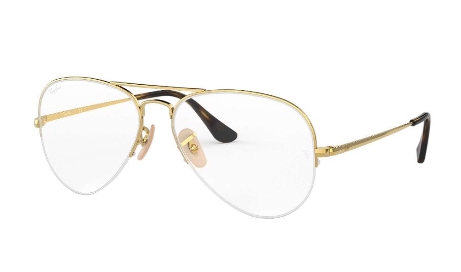 Óculos de Grau Ray-Ban Aviador Dourado RB6589 - 2500/59