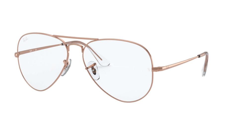 Óculos de Grau Ray-Ban Aviator Optics Rosé RB6489 - 3094/58