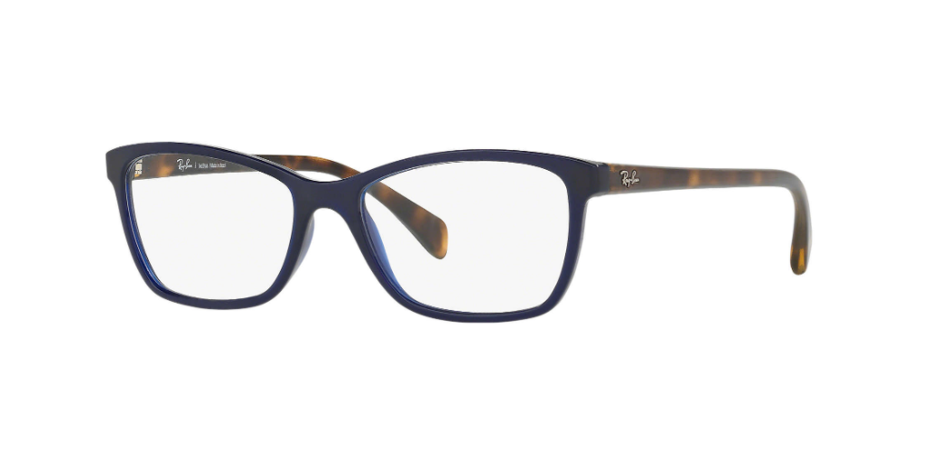Óculos de Grau Ray-Ban Azul/Tartaruga RB7108L - 5696/55