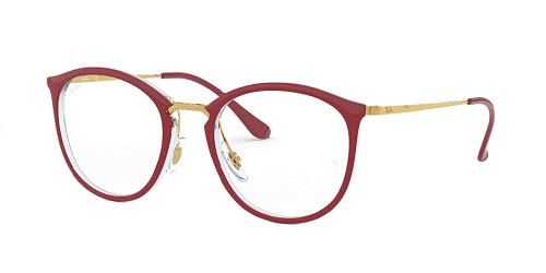 Óculos de Grau Ray-Ban Bordô/Dourado RB7140 - 5854/51