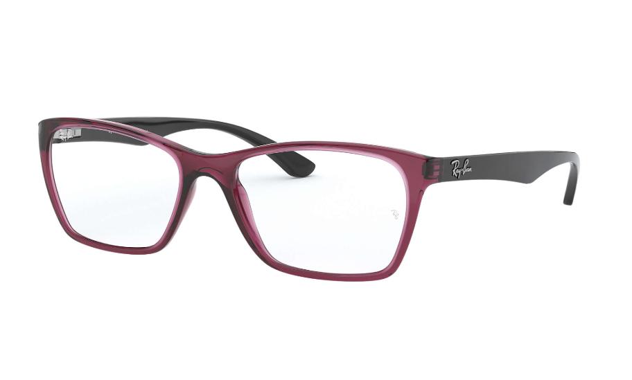 Óculos de Grau Ray-Ban Bordô/Preto RB7033L - 5445/54