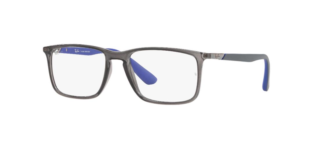 Óculos de Grau Ray-Ban Cinza Transparente RB7158L - 5961/56