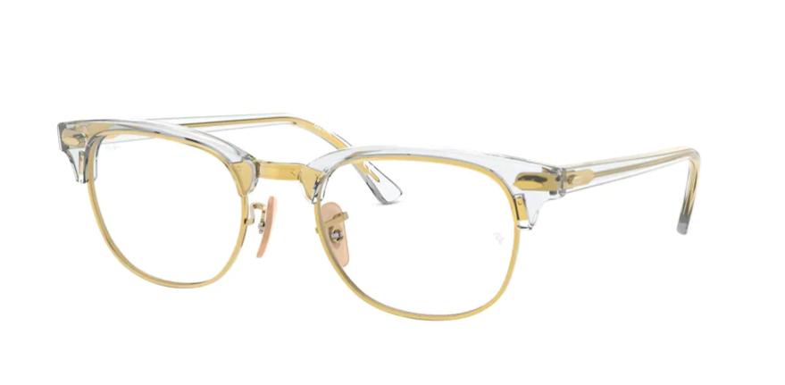 Óculos de Grau Ray-Ban Clubmaster Optics Transparente/Dourado RB5154 - 5762/51