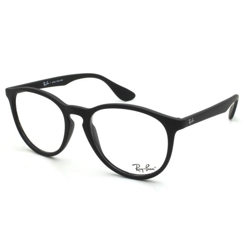 Óculos de Grau Ray-Ban Erika Optics Preto Fosco RB7046L - 5364/53