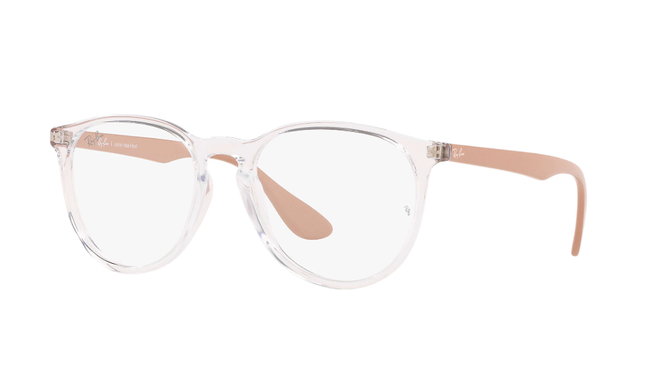 Óculos de Grau Ray-Ban Erika Optics Transparente/Bege RB7046L - 5953/53