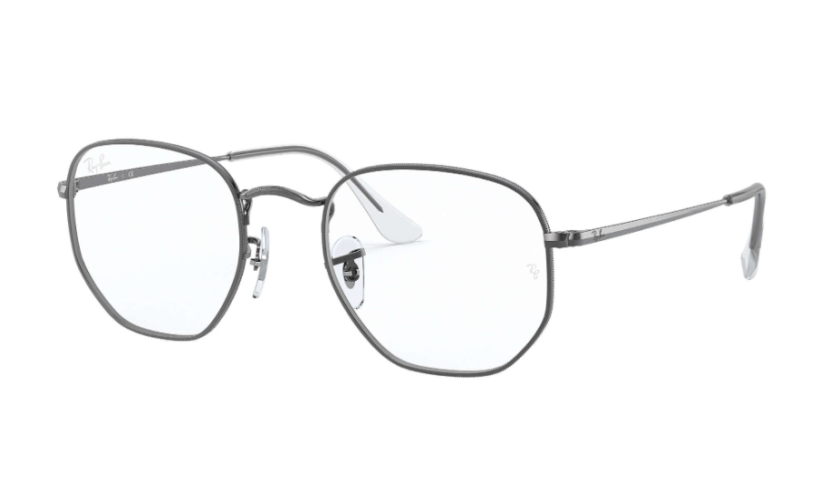 Óculos de Grau Ray-Ban Hexagonal Optics Chumbo RB6448 - 2502/54