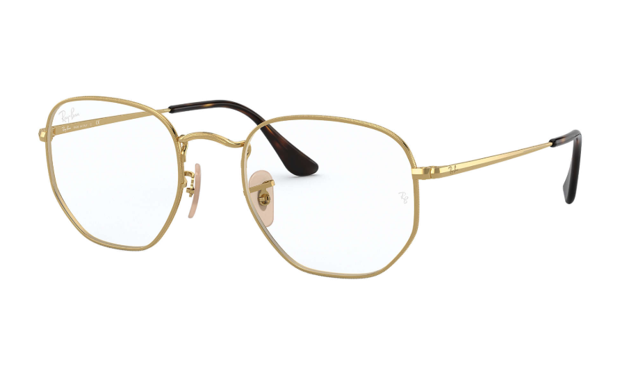 Óculos de Grau Ray-Ban Hexagonal Optics Dourado RB6448 - 2500/54