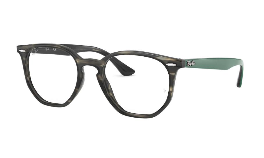 Óculos de Grau Ray-Ban Hexagonal Optics Preto/Verde RB7151 - 5800/52