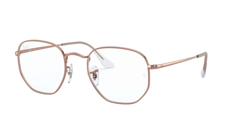 Óculos de Grau Ray-Ban Hexagonal Rosé RB6448 - 3094/54