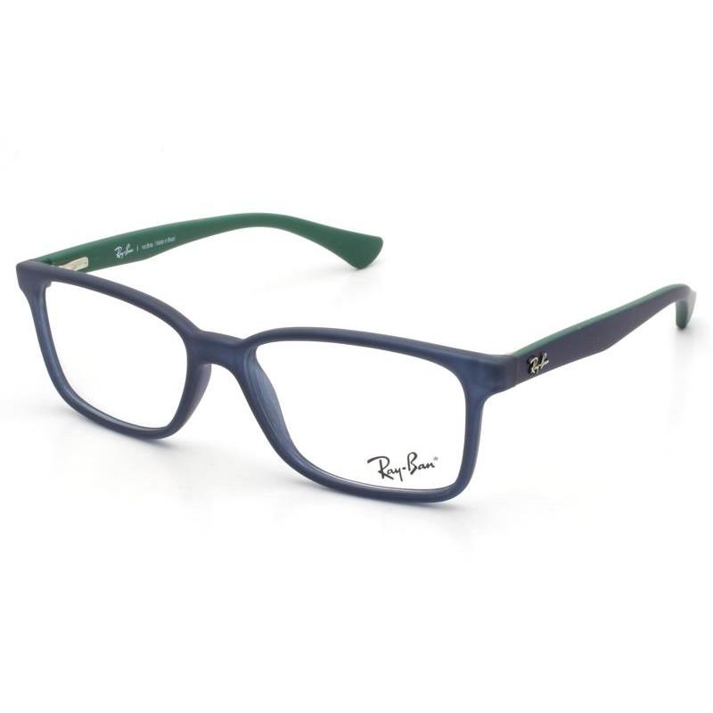 Óculos de Grau Ray-Ban Infantil Azul Marinho/Verde RB1572L - 3718/49