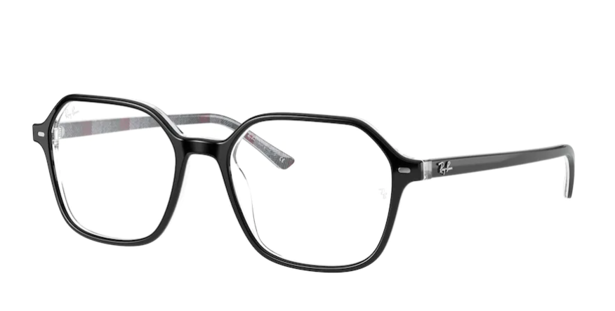 Óculos de Grau Ray-Ban John Optics Preto/Cinza RB5394 - 8089/51