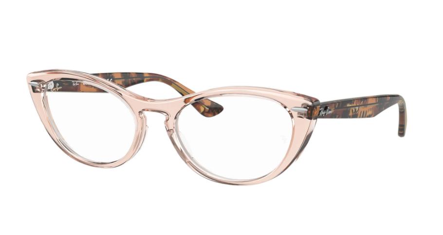 Óculos de Grau Ray-Ban Nina Optics Marrom Translúcido RB4314V - 8080/54