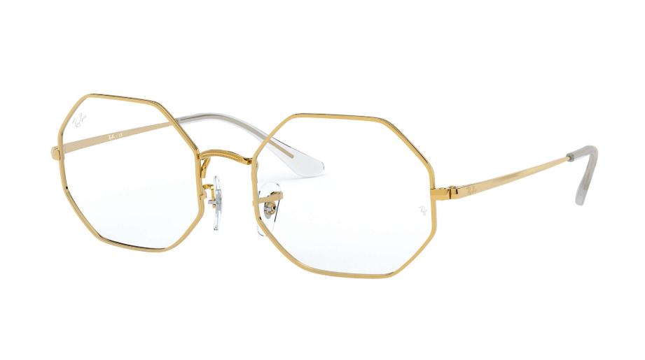 Óculos de Grau Ray-Ban Octagon Dourado RB1972V - 3086/54