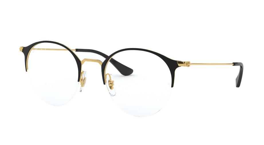 Óculos de Grau Ray-Ban Preto/Dourado RB3578V - 2890/50