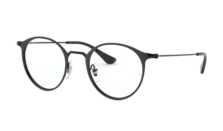 Óculos de Grau Ray-Ban Preto Fosco RB6378 - 2904/49